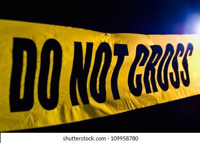 Crime scene police line do not cross