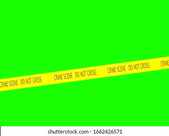 Crime scene tape across green screen for multiple use.