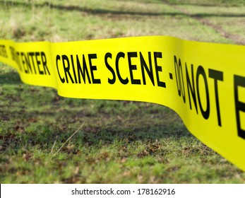 Crime scene tape being used to protect a criminal investigation