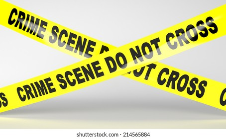 Crime scene tape. Do not Cross.