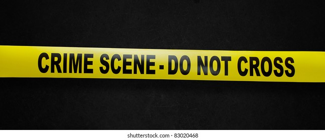 Crime scene yellow tape with clipping path so you can easily remove background