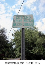 Crime watch neighborhood  sign