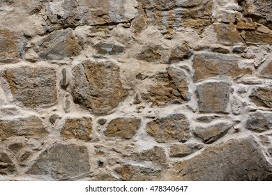 Crimea. Ancient ruins of the Armenian monastery of Surb Khach, fragments of walls.