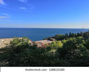 Crimea. The City Of Alupka. Black Sea