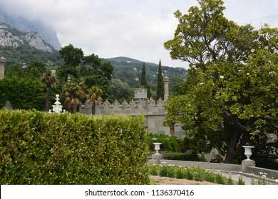 Crimea, Russia, Vorontsov Palace, AI-Petri is a mountain