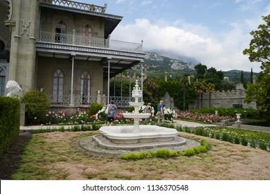 Crimea, Russia, Vorontsov Palace,  fountain