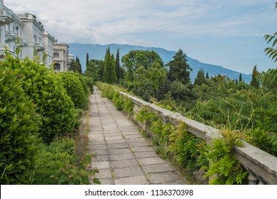 Crimea, Russia, Vorontsov Palace, road, Boulevard