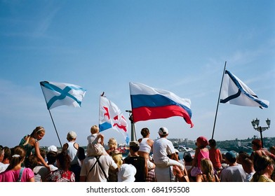 CRIMEA, SEVASTOPOL - JULY 26, 2009: The Russian Navy Day in Sevastopol (The day of the Military-Maritime Fleet of the Russian Federation).