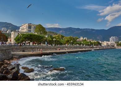 Crimea. South coast. Yalta. Lenin Embankment