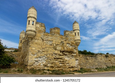 Crimea. Walls and towers of the ancient fortress Enikale in Kerch