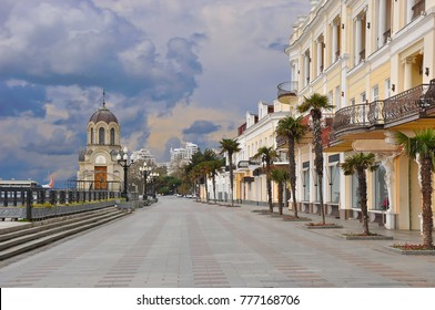 Crimea. Yalta. Quay. Winter. Off season