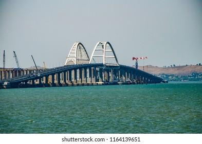 Crimean bridge, Kerch bridge, large-scale construction