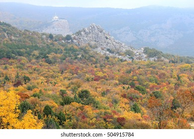 Crimean mountains in autumn
