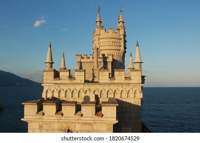 Crimea.Ukraine August 21.2013 A monument of architecture and history, located on the steep 40-meter Aurorina rock of Cape Ai-Todor in the village of Gaspra on the southern coast of Crimea.