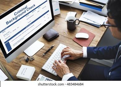 Criminal Background Check Insurance Form Concept