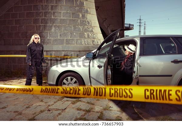 Criminal Drug Dealer Found Murdered Car Stock Photo (Edit