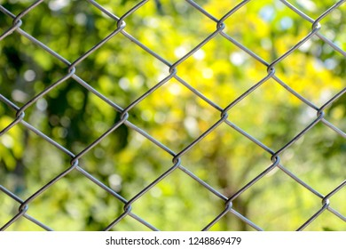 Crimped wire mesh, Protection steal, Danger area, Fence of important area.
