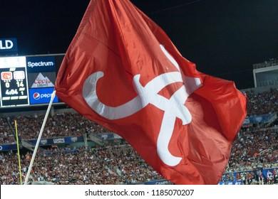 Crimson Tide Flag -Alabama Football Campingworld Kickoff September 1st, 2018 in Orlando Florida -USA Alabama Crimson Tide Vs. Louisville Cardinals