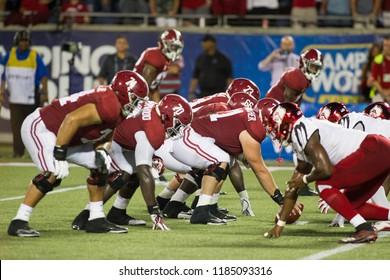 Crimson Tide Offensives Line -Alabama Football Campingworld Kickoff September 1st, 2018 in Orlando Florida -USA Alabama Crimson Tide Vs. Louisville Cardinals