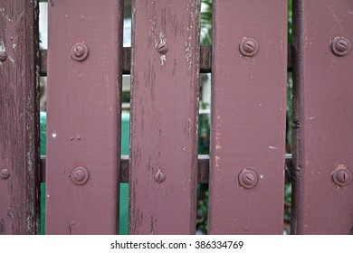 crimson wooden fence