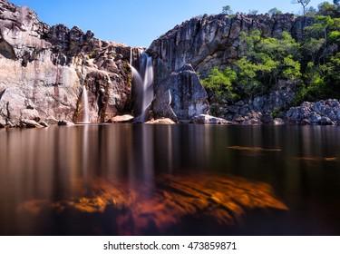 Crioulo Falls at Rio Preto State Park in Minas Gerais, Brazil