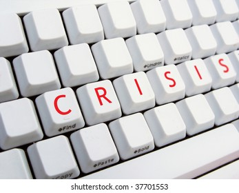CRISIS text on the keyboard