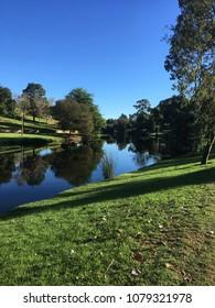 Crisp Adelaide Autumn Morning River Torrens