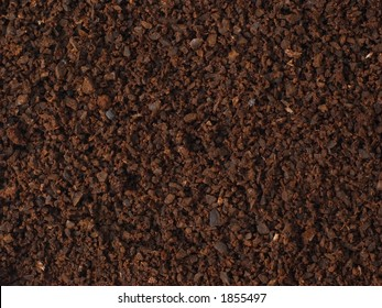 Crisp and close-up look at ground coffee. Great texture or background for coffee lovers.