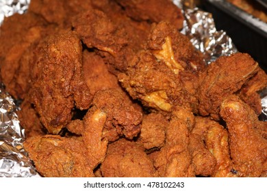 Crisp and juicy fried chicken