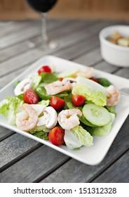 Crisp Shrimp Salad