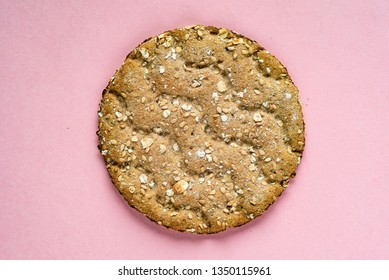 the crispbread on the pink background