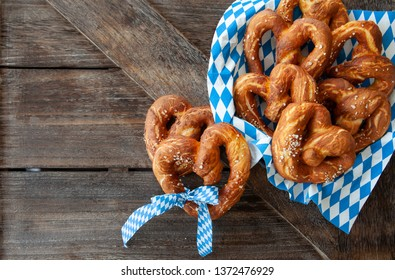 Crispy baked soft pretzels in a heart shape