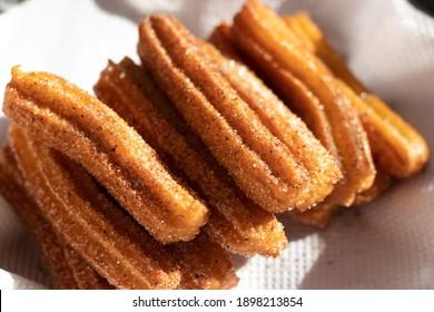 crispy Churros with cinnamon sugar