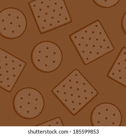 Crispy Crackers seamless texture in brown color. Raster version.