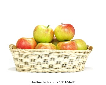 crispy elstar variety apples on native basket