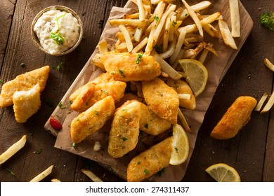 Crispy Fish and Chips with Tartar Sauce