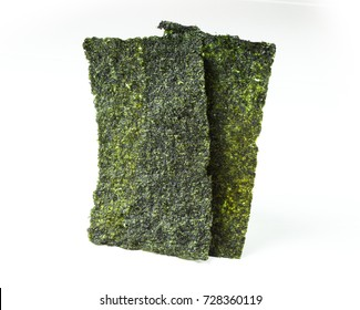 Crispy Nori Seaweed on white background