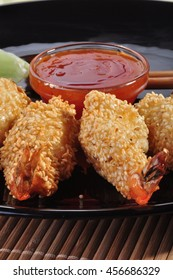 crispy shrimp with Sesame
