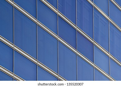 crisscross pattern of a building front