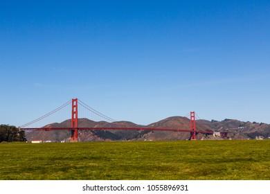 Crissy Field and Golden Gate Bridge, San Francisco