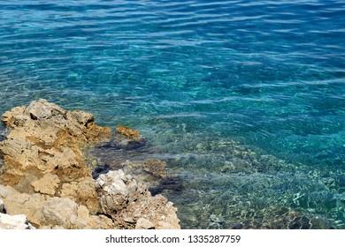 cristal blue sea, island Losinj, Croatia