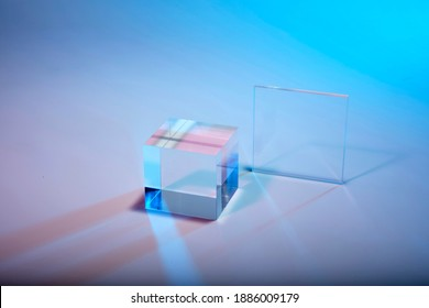 cristal cube in pattern and texture