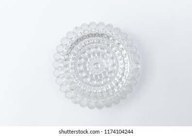 Cristal glass ashtray isolated