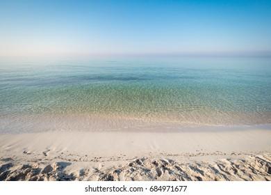 Cristal water in Salento coast, Puglia, Italy.