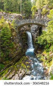 Cristian fall scene in mt.Rainier National park,Wa,Usa
