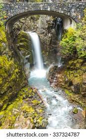 Cristian fall scene when autumn in mt.Rainier National park