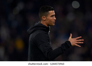 Cristiano Ronaldo of Juventus during the UEFA Champions League match between Juventus and Valencia CF at Allianz Juventus Stadium  in Turin, Italy on November 27, 2018