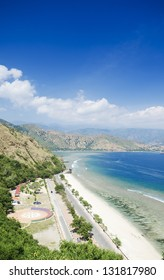 cristo rei beach near dili in east timor