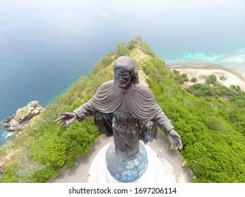 Cristo Rei of Dili statue of Jesus located top a globe in Dili, East Timor
