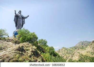 cristo rei statue near dili east timor, timor leste